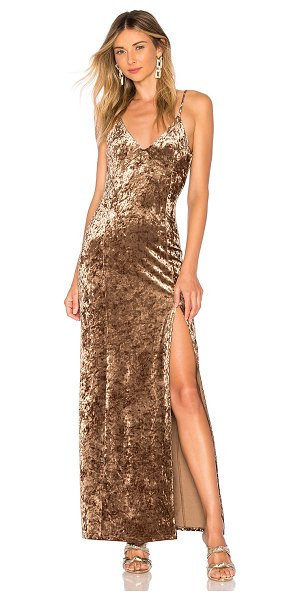 House of Harlow 1960 x REVOLVE Shari Dress in metallic bronze - Self: 95% poly 5% elastaneLining: 100% poly. Hand wash...