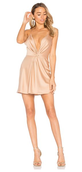 House of Harlow 1960 x REVOLVE Sharon Dress in Camel in brown - 100% poly. Hand wash cold. Fully lined. Adjustable...