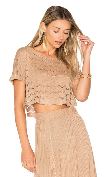 House of Harlow 1960 x REVOLVE Shay Top in nude - 100% viscose. Hand wash cold. Chevron cut-out detail....
