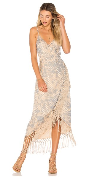 House of Harlow 1960 x REVOLVE Sonya Dress in nude - Self: 80% rayon 20% silkLining & Trim: 100% poly. Dry...