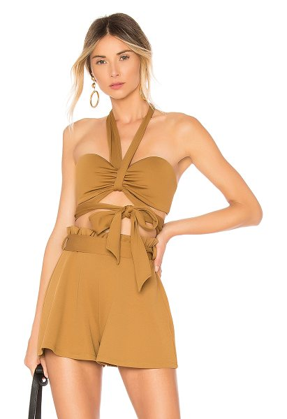 House of Harlow 1960 x REVOLVE Tammy Top in chocolate - 60% poly 32% nylon 8% elastane. Hand wash cold. Halter...