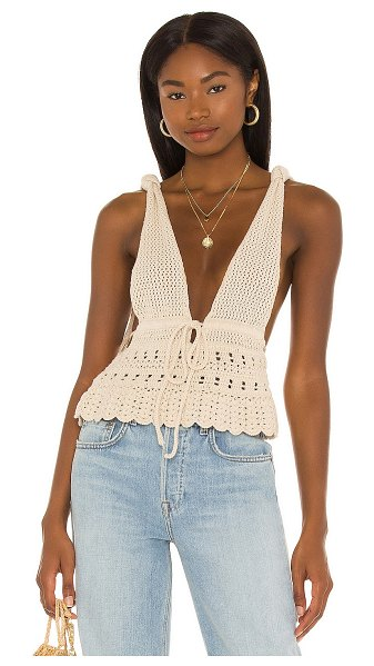House of Harlow 1960 x sofia richie anika crochet top in natural