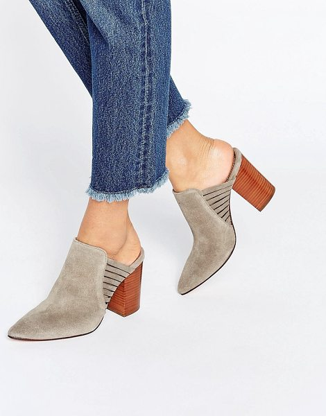 "HUDSON Audny Taupe Suede Heeled Mules in beige - """"Heels by Hudson London, Suede upper, Slip-on style,..."