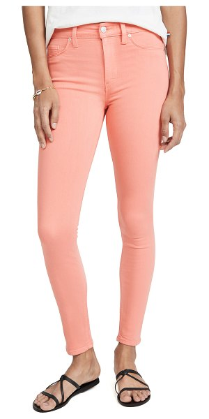HUDSON barbara high waist super skinny jeans in flamingo