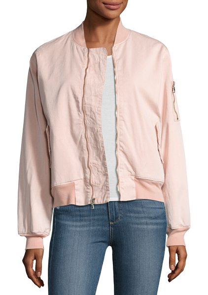 """HUDSON Gene Bomber Jacket - Hudson """"Gene"""" bomber jacket with contrast ribbed collar,..."""