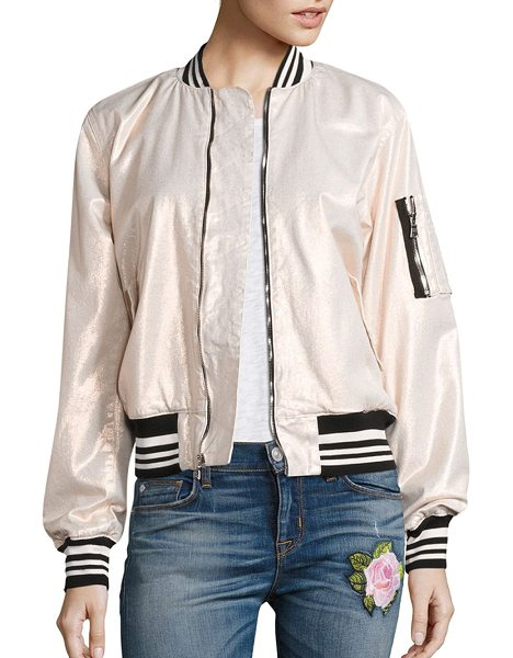 HUDSON gene puffy bomber jacket in metallic sunset - Versatile bomber jacket in minimalistic design. Baseball...