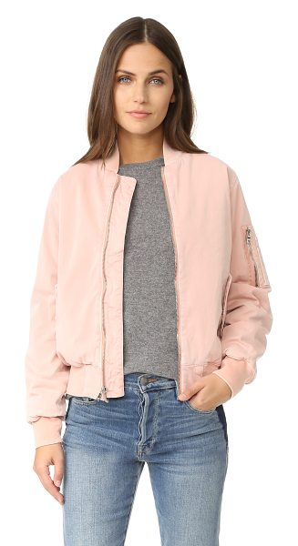 HUDSON gene puffy bomber in sunkissed pink destructed - A fiber-filled Hudson bomber jacket, detailed with tonal...