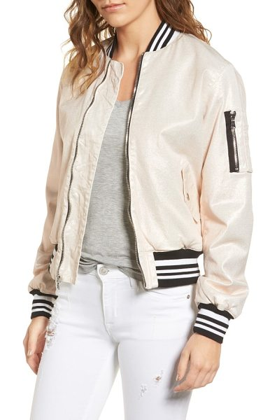 HUDSON gene puffy bomber jacket in metallic sunset - Bounce around town and get things done in a chic bomber...