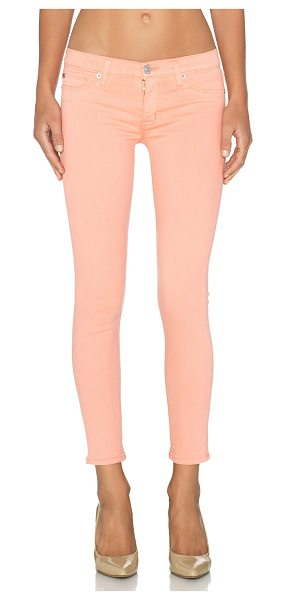 "HUDSON Krista super skinny crop in coral - 91.5% cotton 6% poly 2.5% lycra. 12"""" at the knee..."