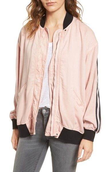 HUDSON nova varsity jacket in sun kissed pink - Nobody puts you on the bench-suit up for the weekend in...