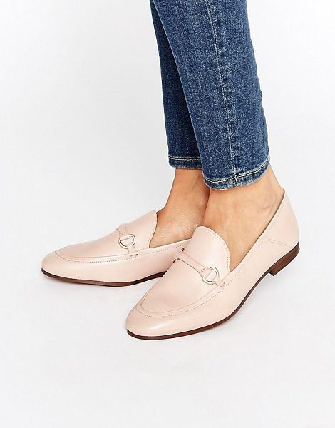 HUDSON Arianna Blush Leather Loafers in pink