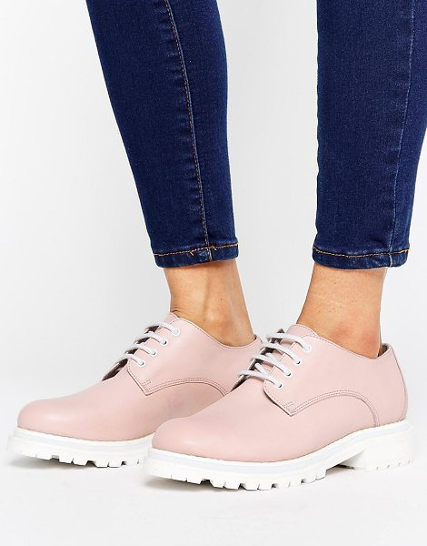 HUDSON H by Hudson Leather Chunky Sole Shoe in beige - Shoes by Hudson London, Leather upper, Lace-up...