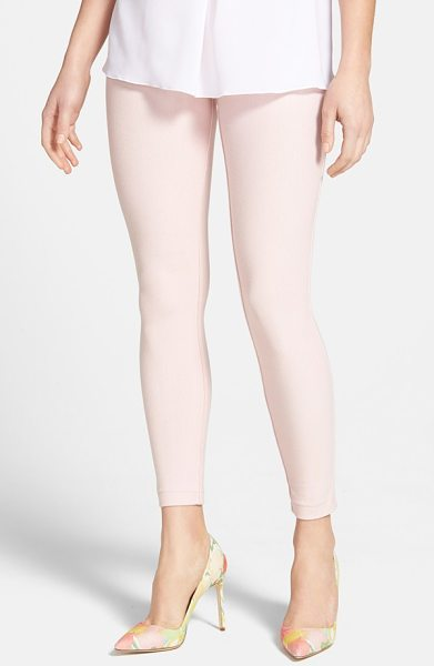 HUE pique knit leggings - Cotton mesh with a hint of stretch and spring-ready hues...