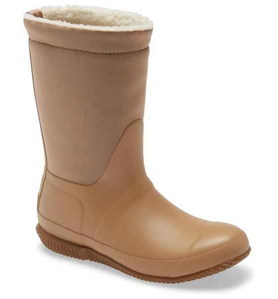 Hunter original insulated slipper boot in brown