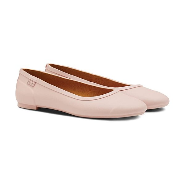 Hunter 'original tour' packable waterproof ballerina flat in pink