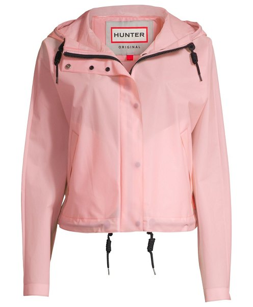 Hunter water-resistant hooded jacket in candy floss