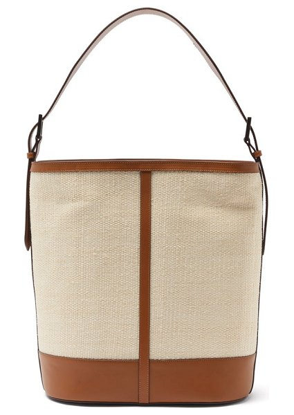 Hunting Season fique and leather shoulder bag in tan multi
