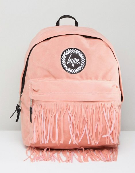 HYPE Backpack with Fringed Pocket - Backpack by Hype, Hands-free style, Branded lining,...