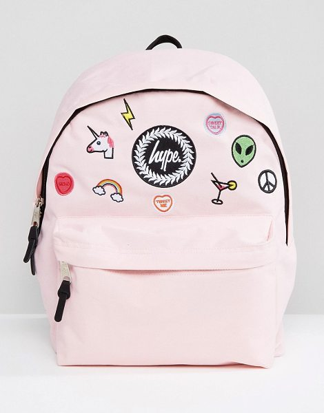 Hype Pink Patches Backpack in pink - Backpack by Hype, Canvas outer, Grab handle, Adjustable...