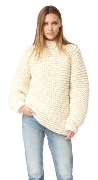 I Love Mr Mittens wool boxy sweater in cream - A ultra-cozy I Love Mr Mittens turtleneck sweater,...