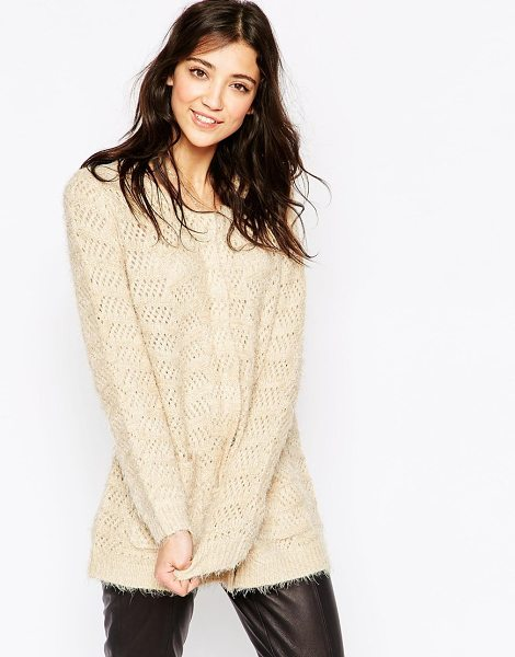 ICHI Longline supersoft cardigan - Top by Ichi Mid-weight, super soft touch knit Fluffy...