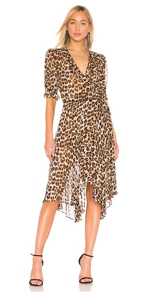 ICONS Objects of Devotion the cha cha wrap dress in leopard