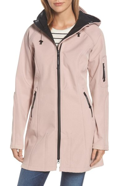 Ilse Jacobsen regular fit hooded raincoat in adobe rose - Smart Scandinavian design inspires a technically...