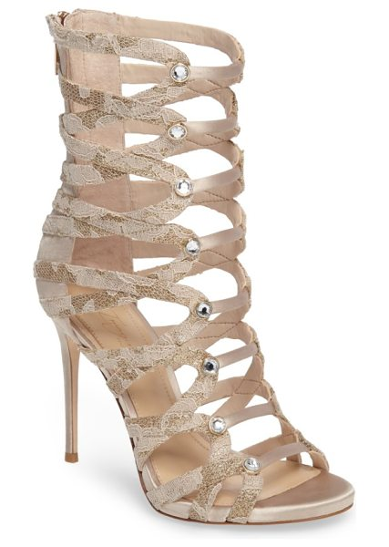 Imagine by Vince Camuto dalany sandal in light sand - Faceted crystals highlight the snake-embossed straps of...
