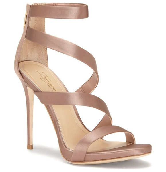 Imagine by Vince Camuto imagine vince camuto dalles tall strappy sandal in beige - Slender straps angle gracefully up the front of a...