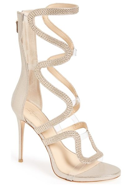 Imagine by Vince Camuto imagine vince camuto 'dash' cage sandal in soft gold satin