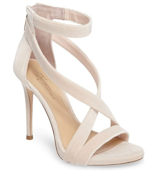 Imagine by Vince Camuto imagine vince camuto 'devin' sandal in pale pink velvet - An alluring strappy sandal is given a daring lift by an...