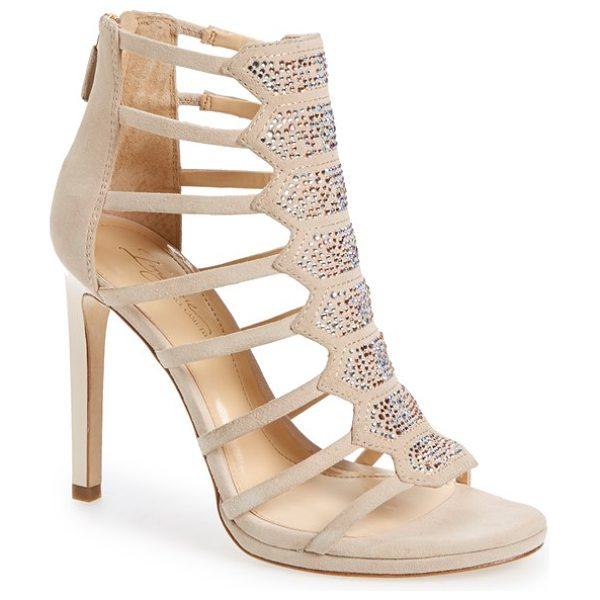 Imagine by Vince Camuto imagine vince camuto 'gavin' embellished cage sandal in light sand - Dazzling beads illuminate a scene-stealing cage sandal...