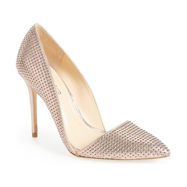 Imagine by Vince Camuto imagine vince camuto 'ossie' d'orsay pump in rose gold shimmer - Tonal studs shimmer on a pointy-toe d'Orsay pump that...