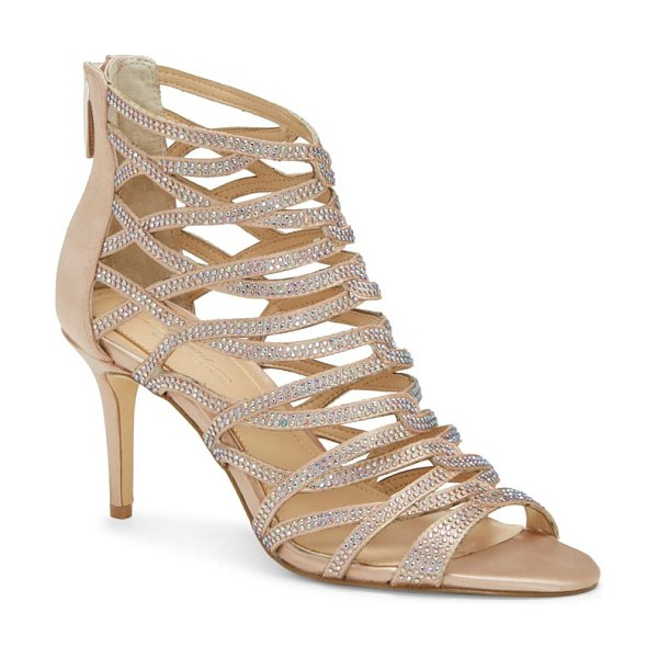 Imagine by Vince Camuto imagine vince camuto paven crystal cage sandal in beige