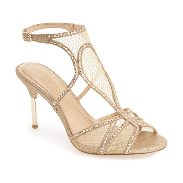 Imagine by Vince Camuto 'pember' sandal in soft gold suede - Faceted crystals highlight the curvy straps of a...