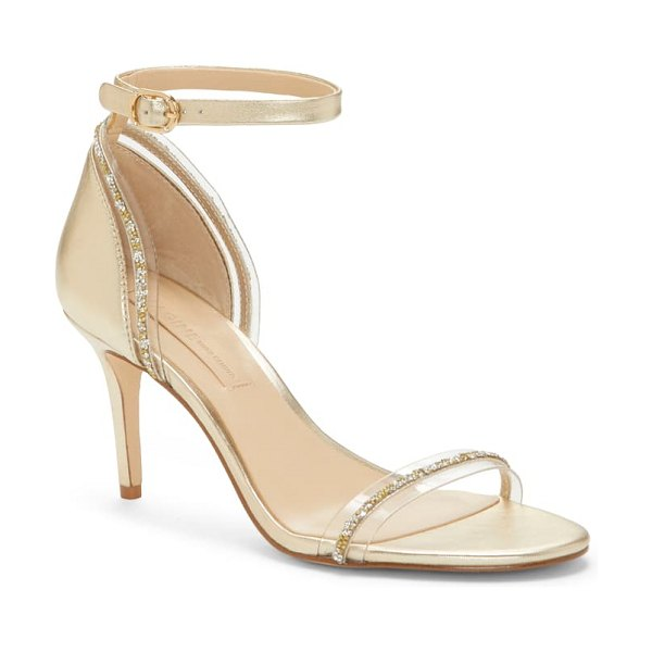 Imagine by Vince Camuto phillipa crystal embellished clear sandal in metallic