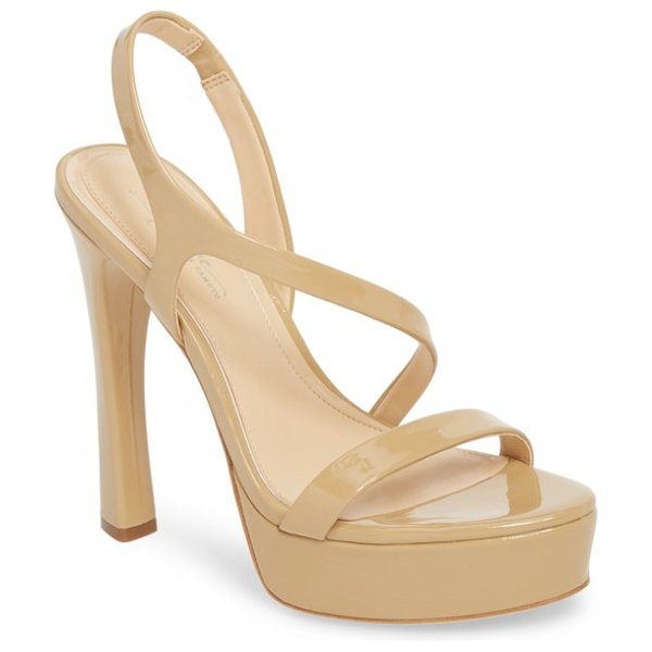 Imagine by Vince Camuto piera platform sandal in nude patent leather - Retro style comes back in sophisticated fashion with...