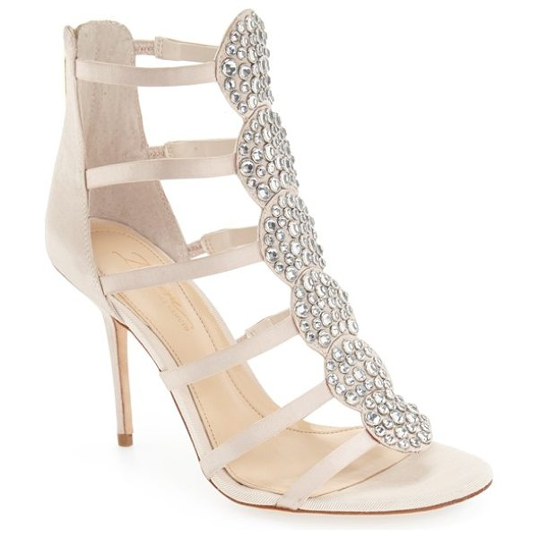 Imagine by Vince Camuto 'reya' crystal sandal in vanilla satin - Faceted crystals shimmer and shine on the cuff of a...