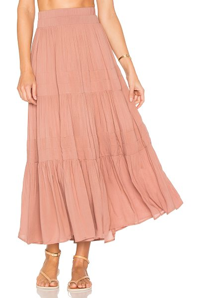 "Indah Bari Skirt in rose - ""100% rayon. Hand wash cold. Unlined. Elastic waist...."
