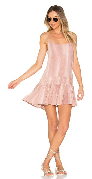 Indah Juniper Mini Dress in rose - 100% rayon. Hand wash cold. Fully lined. Adjustable...