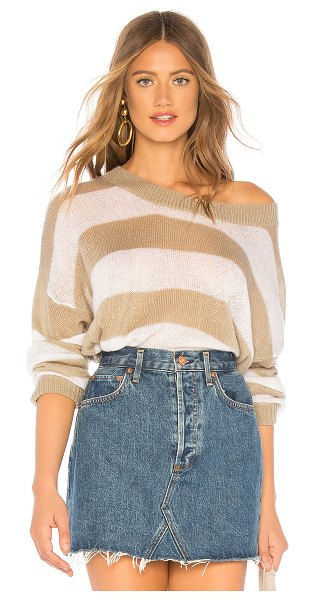 Indah Marshmallow Oversized Sweater in beige - 100% acrylic. Hand wash cold. Knit fabric. Rib knit...