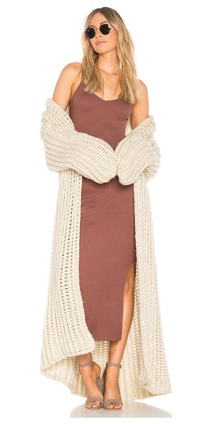 Indah Milkshake Cardigan in neutral - 80% acrylic 20% rayon. Dry clean only. Knit fabric. Open...