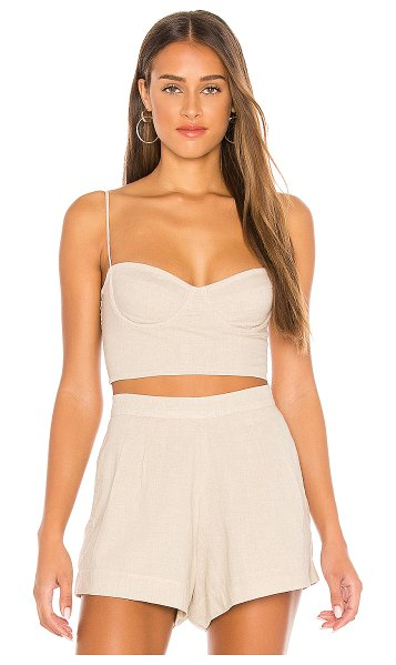 Indah poppy bustier top in natural