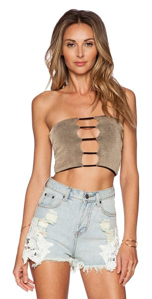 Indah Sea strapless top in taupe - Self: 50% rayon viscose 50% spandexLining: 90% modal 10%...