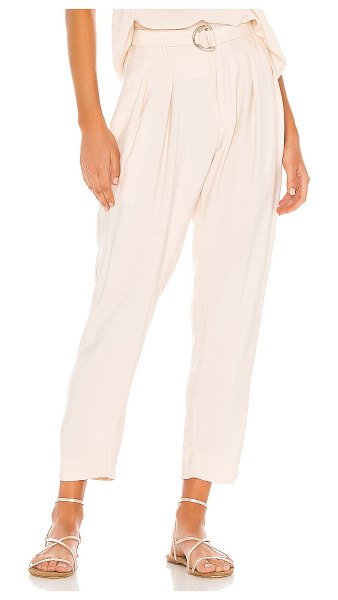 Indah shadow zip front trouser in opal