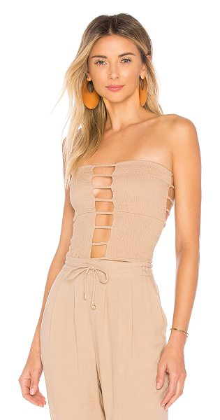 Indah shell top in nude