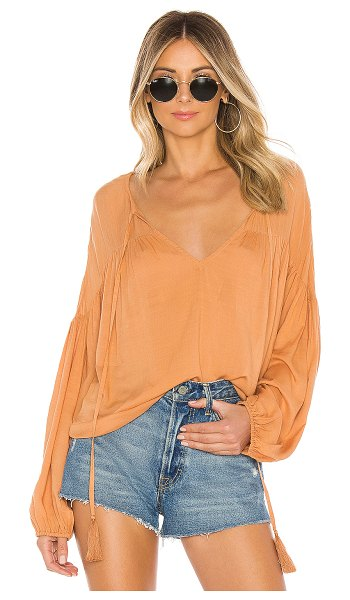 Indah somi solid easy oversize summer blouse in salmon