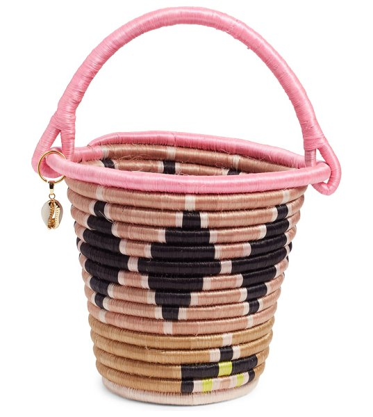 indego africa cardita bucket bag in pink - Handmade and hand-dyed by female artisans and refugees...