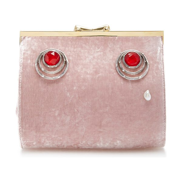Ines Figaredo Charisma Lady Clutch in pink - This *Ines Figaredo* bag is rendered in silk velvet and...