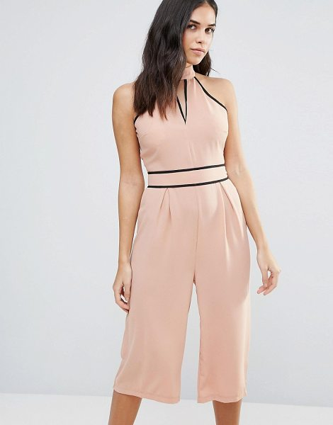 "Influence Choker Culotte Jumpsuit in pink - """"Jumpsuit by Influence, Woven fabric, High choker neck,..."